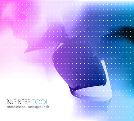 Corporate business brochure or card cover. colorful background with abstract high tech theme. Illustration
