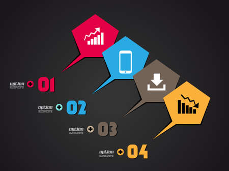 Infographics concept background  Vector