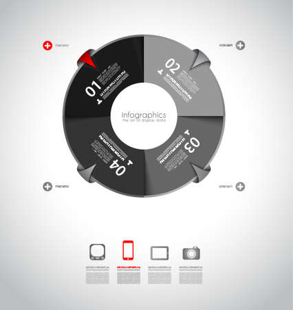 graphic illustration: Infographics concept background