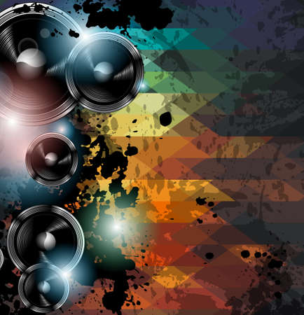 Abstract Rainbow Disco Music Background  Vector