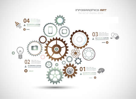 mechaninc: Infographics and High Tech background for business purposes like presentation covers or technology related posters.