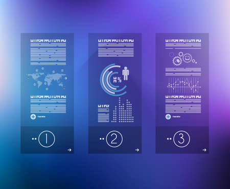 infomation: Infographic design template with glass surface. Ideal to display information, ranking and statistics with orginal and modern style.