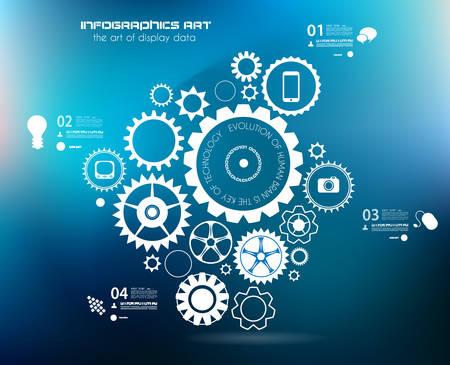 graphics: Infographics en High Tech achtergrond voor zakelijke doeleinden, zoals presentatie behandelt of technologie gerelateerde posters.