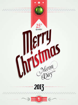 christmas menu: Christmas menu of the day template for your restaurant Illustration