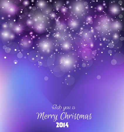 2014 Christmas Colorful Background with a waterfall of ray lights and a lot of baubles and stars. Stock Vector - 23391994
