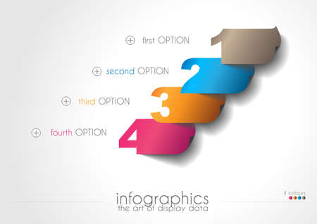 rankings: Infographic templated with paper number shapes for classifications and product rankings.