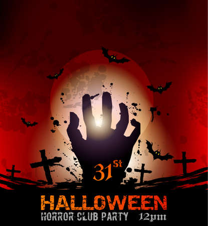 Halloween Fear Horror Party Background for flyers or posters Stock Vector - 23392003