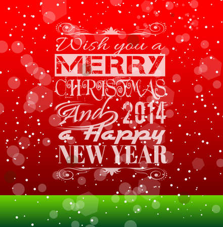 2014 Christmas Vintage typograph design with clean background Vector