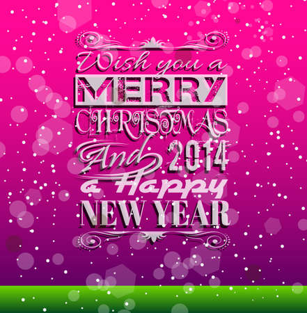 2014 Christmas Colorful Background with a waterfall of ray lights and a lot of baubles and stars. Stock Vector - 23393630