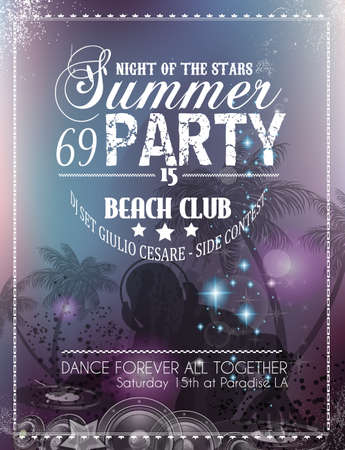 Beach Party Flyer for your latin music event or poster Vector