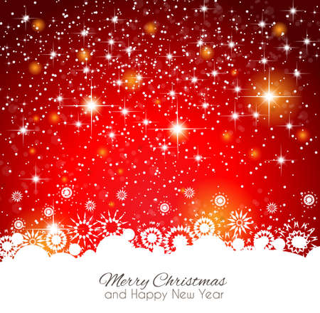 2014 Christmas Colorful Background with a waterfall of ray lights and a lot of baubles and stars. Stock Vector - 23475618
