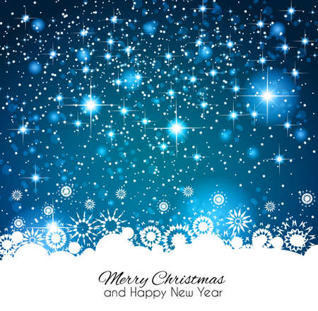 2014 Christmas Colorful Background with a waterfall of ray lights and a lot of baubles and stars. Stock Vector - 23475625