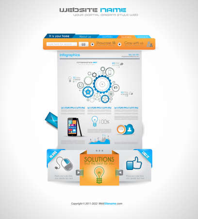 scroller: Quality clean web elements for blog and sites. Icons, header, carousel, infographics and a lot of icons.