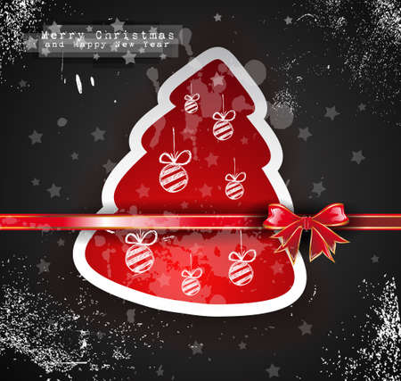 Christmas Vintage design background with grunge style over a black wallpaper Vector