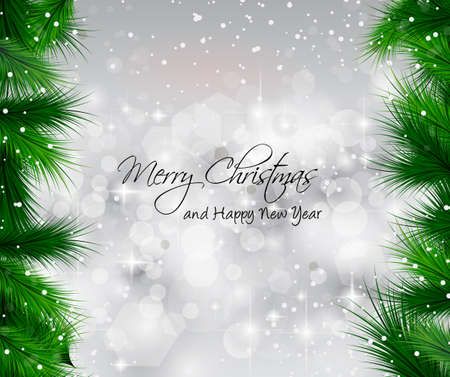 2014 Christmas Colorful Background with a waterfall of ray lights and a lot of baubles and stars. Stock Vector - 23475927