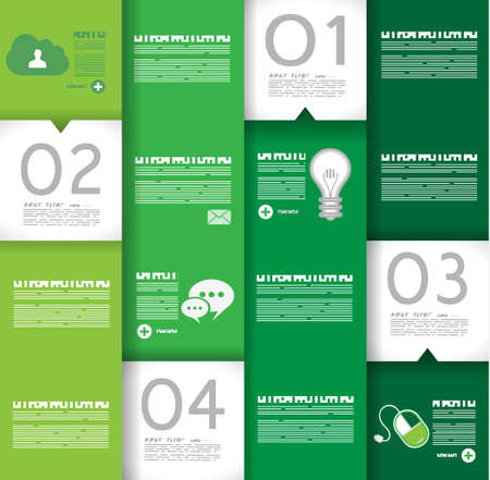 Infographic design template with paper tags. Idea to display information, ranking and statistics with orginal and modern style. Stock Vector - 23648420