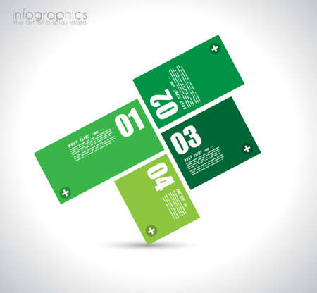Infographic design template with paper tags. Idea to display information, ranking and statistics with orginal and modern style. Stock Vector - 23648424