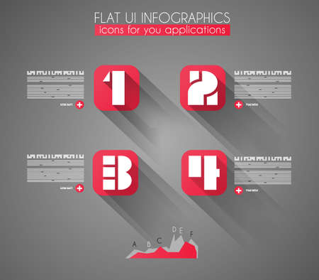 Timeline to display your data in order with Infographic elements technology icons,  graphs,world map and so on. Ideal for statistic data display. Stock Vector - 23648460