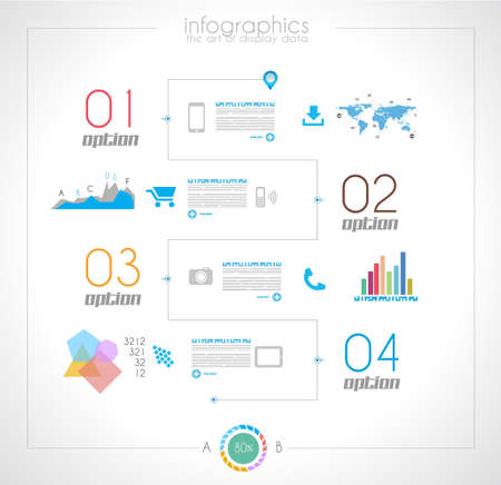 page rank: Timeline to display your data in order with Infographic elements technology icons,  graphs,world map and so on. Ideal for statistic data display.