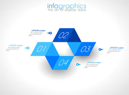 Infographic Design Template with modern flat style. Ideal to display data and for product ranking or generic classification of items. Stock Vector - 23893474