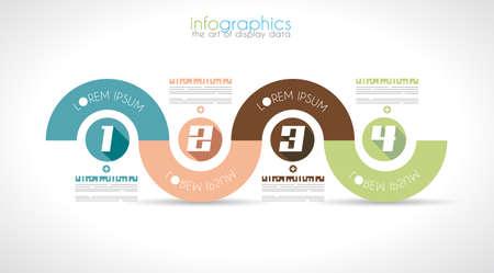 clasificacion: Infograf�a plantilla de dise�o con estilo plano moderno. Ideal para mostrar los datos y para la clasificaci�n de producto o clasificaci�n gen�rica de materiales.