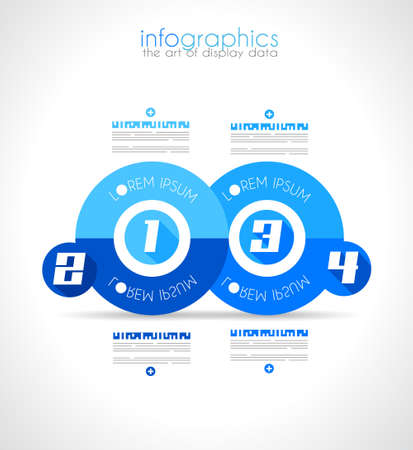 Infographic Design Template with modern flat style. Ideal to display data and for product ranking or generic classification of items.