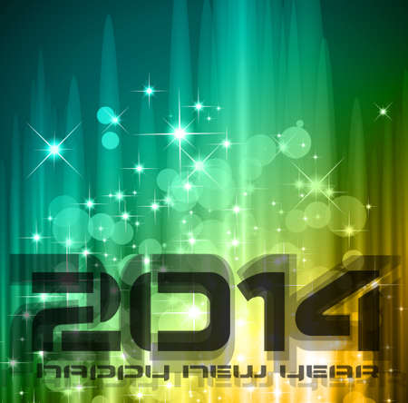 2014 New Year Stock Vector - 24345078