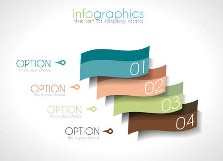 rank: Infographic Design Template with modern flat style