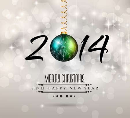 2014 New Year Colorful Christmas Stock Vector - 24345107
