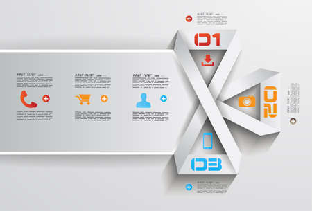 data collection: Infographic Design Template with modern flat style