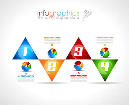 demographics: Infographic Design Template with modern flat style