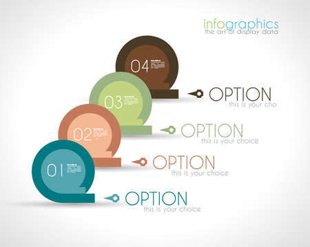 Infographic Design Template with modern flat style Stock Vector - 24344965