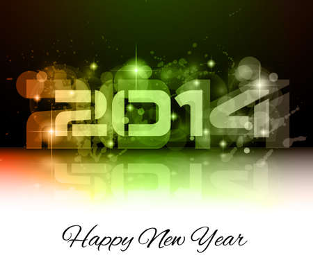 2014 New Year Colorful Background for your  Party invitations. Stock Vector - 24418936
