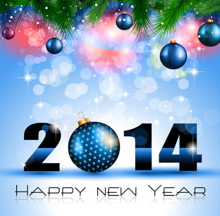 2014 New Year Colorful Background for your  Party invitations. Stock Vector - 24418944