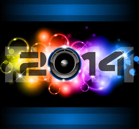 2014 New Year Colorful Background for your  Party invitations. Stock Vector - 24418946