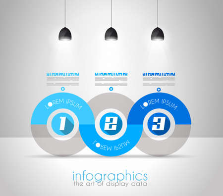 graphic illustration: Infographic Design Template with modern flat style. Ideal to display data and for product ranking or generic classification of items.