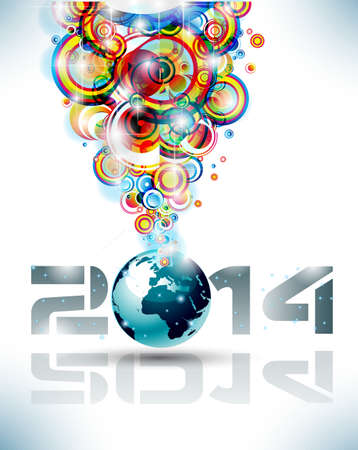 2014 Happy new year Party background for flyers! Stock Vector - 24497820