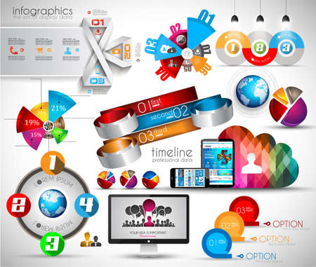 infomation: Mega Collection of quality Infographics objects . A lot of different templates ready to display your data.
