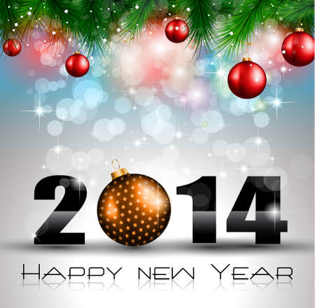 2014 New Year Colorful Background for your  Party invitations. Stock Vector - 24498132