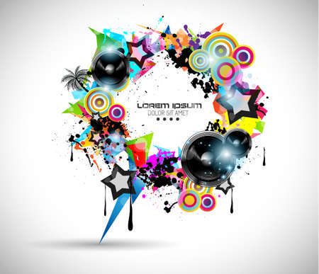 2014 Music Event Background for your  Flyer invitations. Stock Vector - 24498133