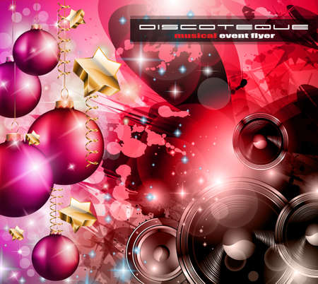 2014 Happy new year Party background for flyers and music events! Stock Vector - 24498137
