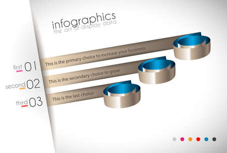 product display: Infographic Design Template with modern flat style. Ideal to display data and for product ranking or generic classification of items.