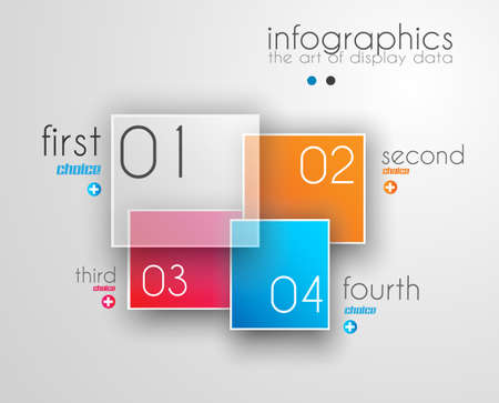 ranking: Infographic Design Template with modern flat style. Ideal to display data and for product ranking or generic classification of items.