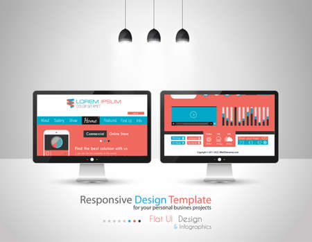 ui design: Modern Flat Style UI interface design elements for all your projects.