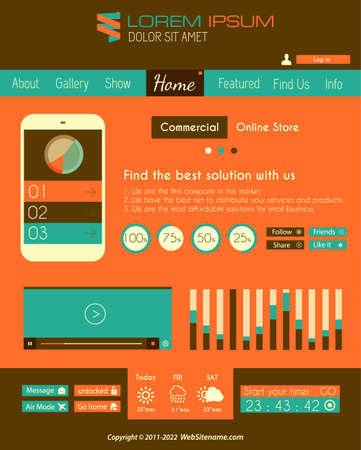 Modern Flat Style UI interface design elements for all your projects. Vector