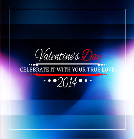 Valentine's Day template with stunning hearts and colors for your flyer backgrounds. Stock Vector - 25068627