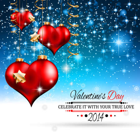 Valentine's Day template with stunning hearts and colors for your flyer backgrounds. Stock Vector - 25068629