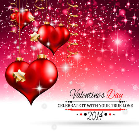 Valentine\'s Day Template With Stunning Hearts And Colors For ...