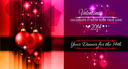Valentine's Day template with stunning hearts and colors for your flyer backgrounds. Stock Vector - 25068632