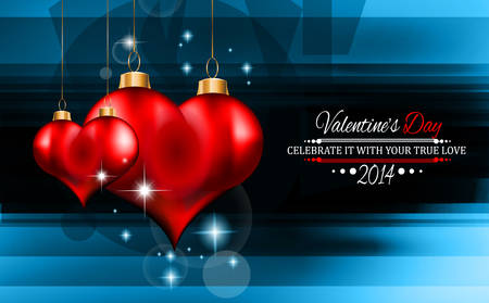 Valentine's Day template with stunning hearts and colors for your flyer backgrounds. Stock Vector - 25068635
